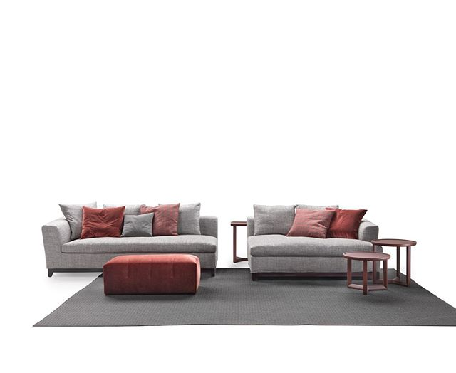 New Riviera Sofa  with Jo-Jo tables and Lain pouf #maracsofa#design#sofas#italiandesign#italianfurniture
